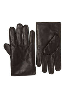 RALPH LAUREN Cashmere lined leather gloves