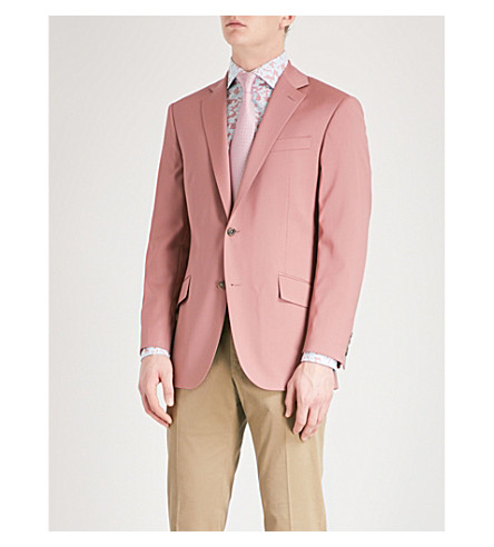 RICHARD JAMES Regular-fit linen jacket (Deep+dust+pink