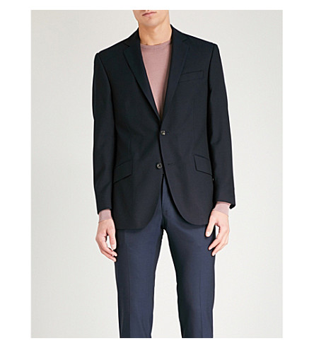 RICHARD JAMES Travel slim-fit wool blazer (Navy