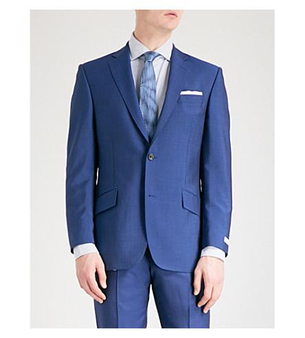 RICHARD JAMES Slim-fit wool and mohair-blend jacket (Blue