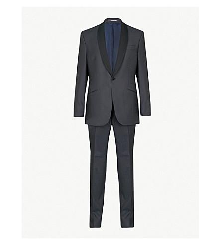 RICHARD JAMES Dogtooth-pattern regular-fit wool tuxedo (Midnight