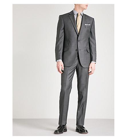 RICHARD JAMES Sharkskin-weave slim-fit wool jacket (Charcoal