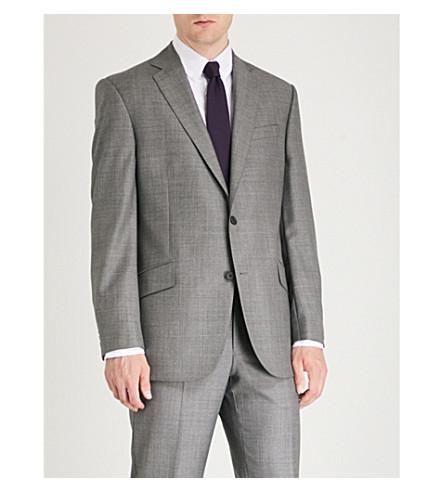 RICHARD JAMES Sharkskin-patterned regular-fit wool jacket (Mid+grey