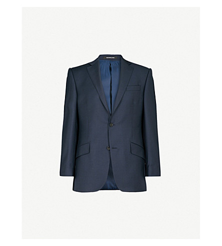 RICHARD JAMES Regular-fit wool blazer (Navy