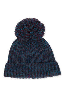 RICHARD JAMES Knitted bobble beanie hat