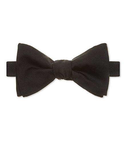 RICHARD JAMES Silk bow tie (Black