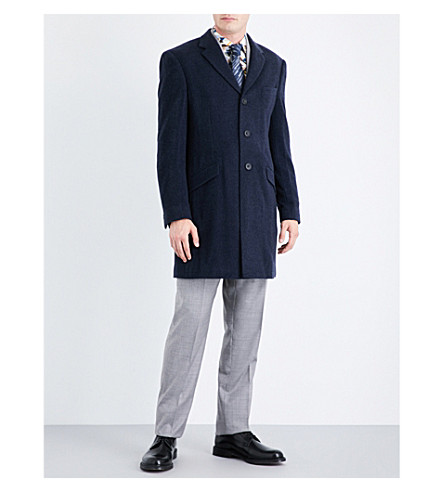 RICHARD JAMES Regular-fit wool and cashmere-blend jacket (Deep+blue
