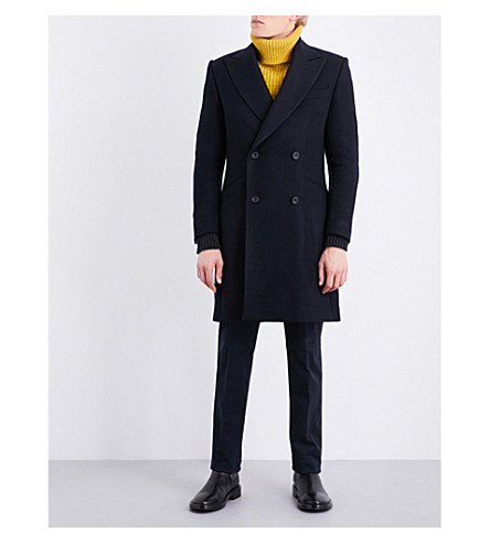 RICHARD JAMES Double-breasted wool coat (Midnight