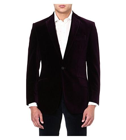 RICHARD JAMES Single-breasted velvet jacket (Purple