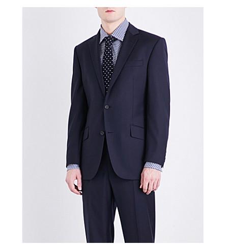 RICHARD JAMES Single-breasted slim-fit wool jacket (Navy+3