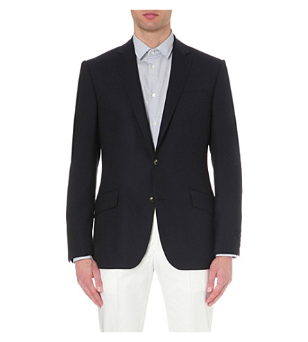 RICHARD JAMES Single-breasted wool travel blazer (Blue