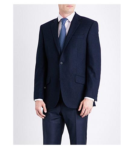 RICHARD JAMES Regular-fit wool and cashmere-blend jacket (Ink