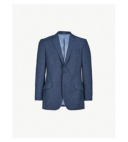 RICHARD JAMES 修身版型羊毛夹克 (蓝色