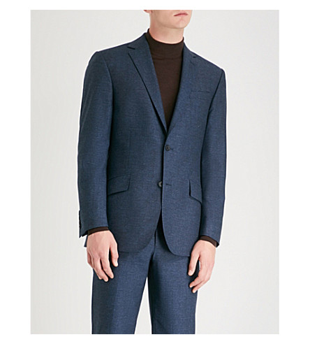 RICHARD JAMES Slim-fit wool jacket (Blue