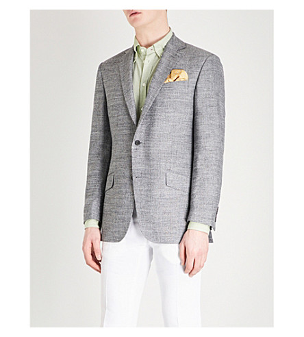 RICHARD JAMES Regular-fit single-breasted wool jacket (Ash