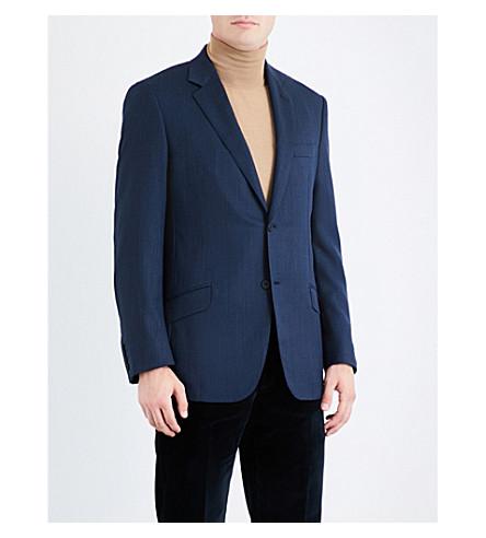 RICHARD JAMES Micro-spot wool blazer (Teal