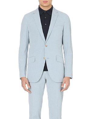 RICHARD JAMES Gingham-pattern cotton jacket