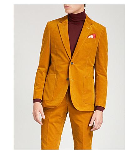 RICHARD JAMES Needle slim-fit corduroy jacket (Ochre