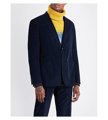 RICHARD JAMES Single-breasted cotton-corduroy jacket (Deep+blue