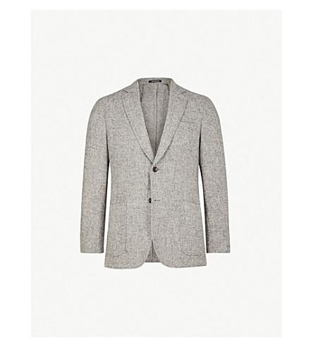 RICHARD JAMES Tailored-fit wool-tweed jacket (Smoke