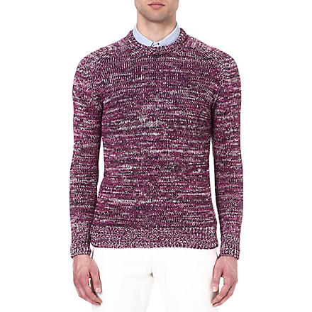 RICHARD JAMES Space-dye jumper (Purple