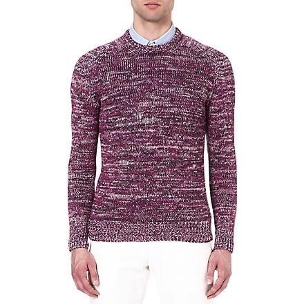 RICHARD JAMES Space-dye jumper (Purple