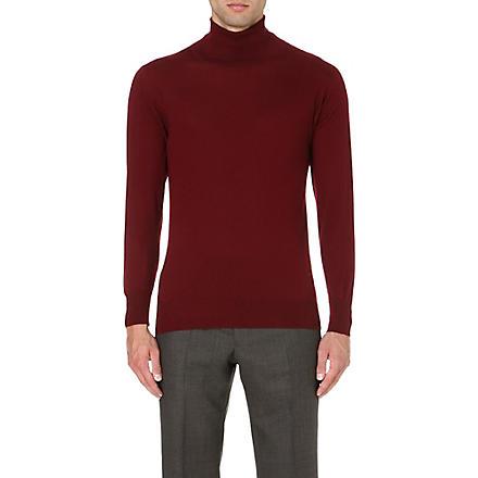 RICHARD JAMES Roll-neck cashmere jumper (Burg