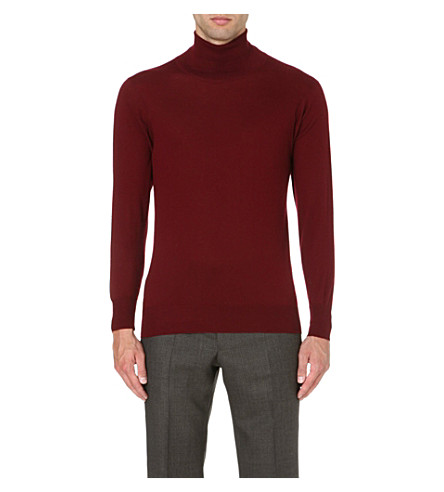 RICHARD JAMES Roll-neck cashmere jumper (Burg