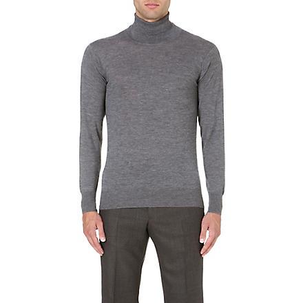 RICHARD JAMES Roll-neck cashmere jumper (Grey