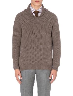 RICHARD JAMES Chunky shawl-collar wool jumper