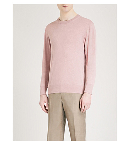 RICHARD JAMES Crewneck knitted jumper (Dusty+pink