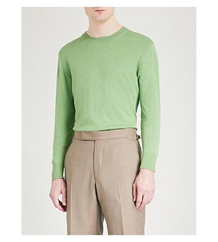 RICHARD JAMES Crewneck knitted jumper (Pistachio