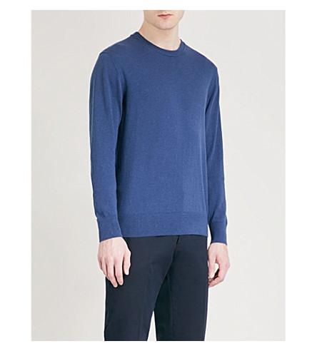 RICHARD JAMES Crewneck cotton jumper (Blue