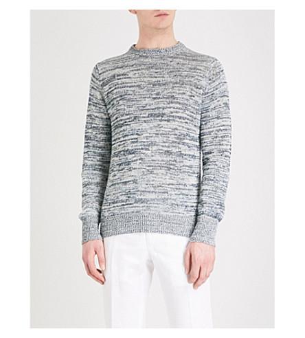 RICHARD JAMES Marl linen and cotton-blend jumper (Grey