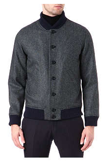 RICHARD JAMES Herringbone wool bomber jacket