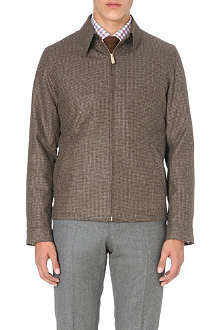 RICHARD JAMES Houndstooth zip-up jacket