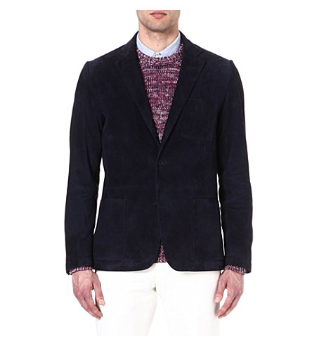 RICHARD JAMES Suede blazer (Navy