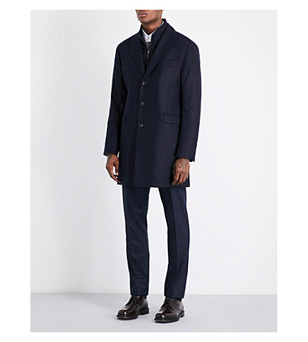 RICHARD JAMES Gilet wool coat (Ink