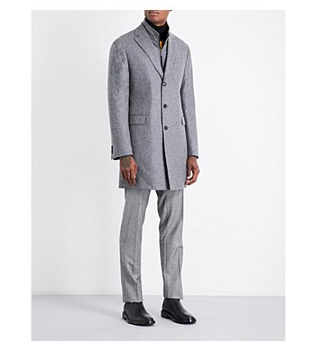 RICHARD JAMES Gilet wool coat (Grey