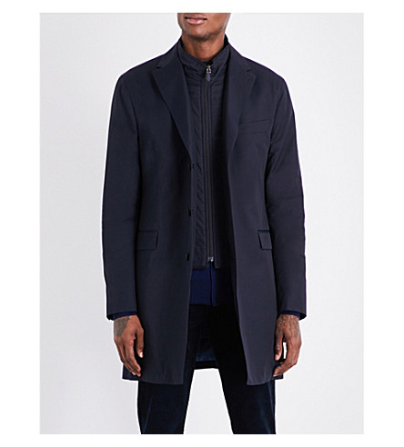 RICHARD JAMES Regular-fit shell coat (Navy