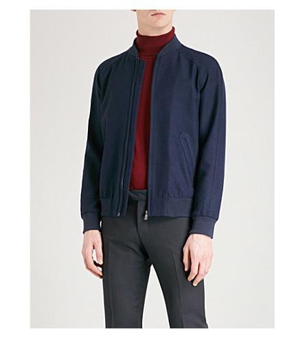 RICHARD JAMES Textured wool bomber jacket (Navy