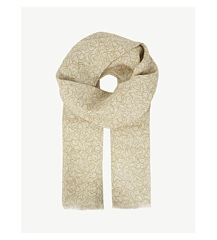 RICHARD JAMES 50s ripple linen scarf (Brown