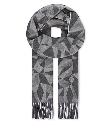RICHARD JAMES Dazzle cashmere scarf (Grey/grey