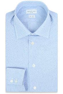 RICHARD JAMES Spot-print double-cuff cotton shirt