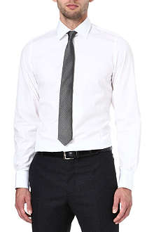 RICHARD JAMES Poplin slim-fit single-cuff shirt