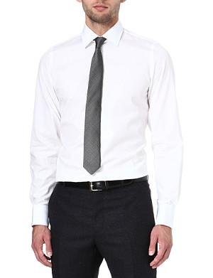 RICHARD JAMES Poplin slim-fit single-cuff shirt