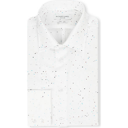 RICHARD JAMES Spread-collar single-cuff shirt (Mult