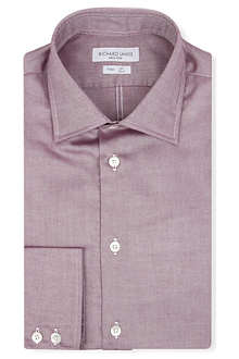 RICHARD JAMES Spread-collar single-cuff shirt