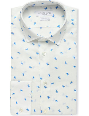 RICHARD JAMES Scorpion-printed shirt