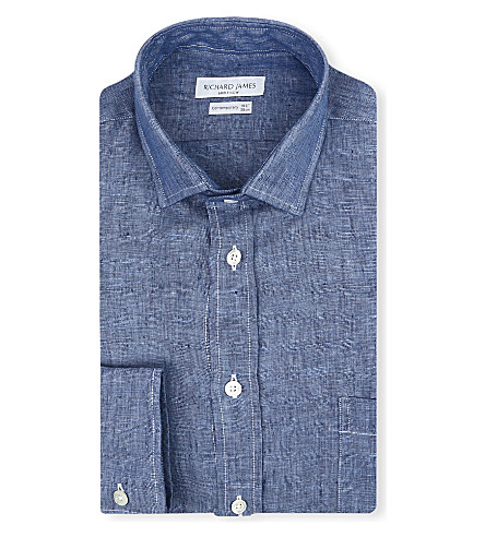RICHARD JAMES Single-cuff shirt (Denim